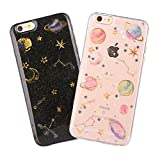 [2 Packs]iPhone 5/5S/SE Case [with Free Tempered Glass