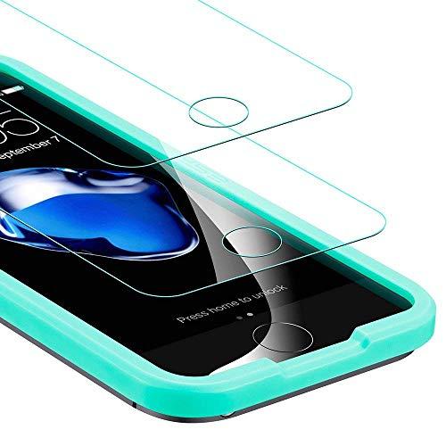 ESR Panzerglas Folie [2 Stück] Displayschutz kompatibel mit iPhone SE/ 5s / 5-9H Display Schutzfolie [Face ID kompatibel] mit Montageset ohne Blasen für das iPhone SE/ 5s / 5