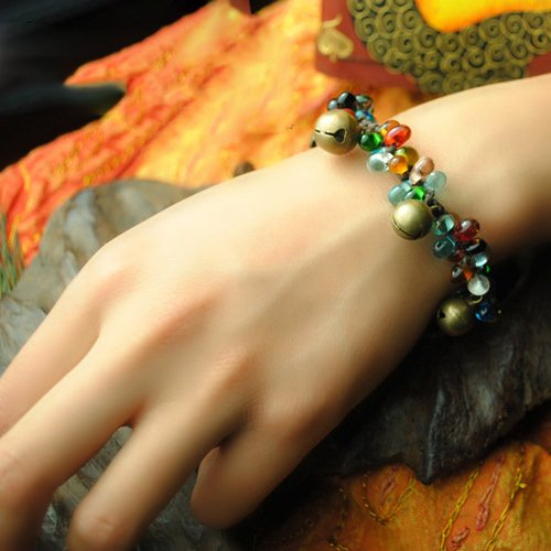 Glassa colorata e Bell Bracelet
