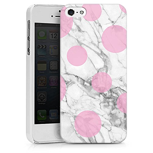 Apple iPhone X Silikon Hülle Case Schutzhülle Marmor Look Marble Punkte Hard Case weiß