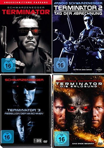 TERMINATOR 1 2 3 4 Full Uncut QUADRILOGY 4 DVD Collection
