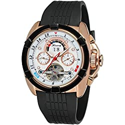 Forsining Mens Automatic Self-wind Calendar Day Brand Wrist Watches FSG291M3T2