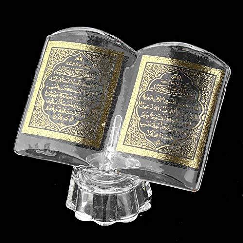 YOTATO Ramadan Dekor Koran Buch Ornament Eid Allah islamisches Muslim Geschenk Schrift Kristall Home Decor Polierkoran Bücherständer OneSize Keine Angabe
