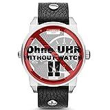 Diesel Uhrband Wechselarmband LB-DZ7307 Original Ersatzband DZ 7307 Uhrenarmband Leder 22 mm Schwarz