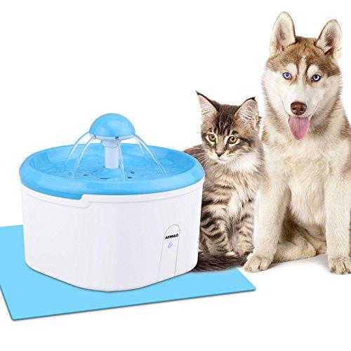 AEMIAO Haustier Automatisch Trinkbrunnen,2.2 L Hunde Wasserspender Infrarot-Induktion Wasserbrunnen für Katzen Hunde, Katzenbrunnen Wasserspender Automatische Elektrik, Flüsterleise - 1 Ersatzfilter