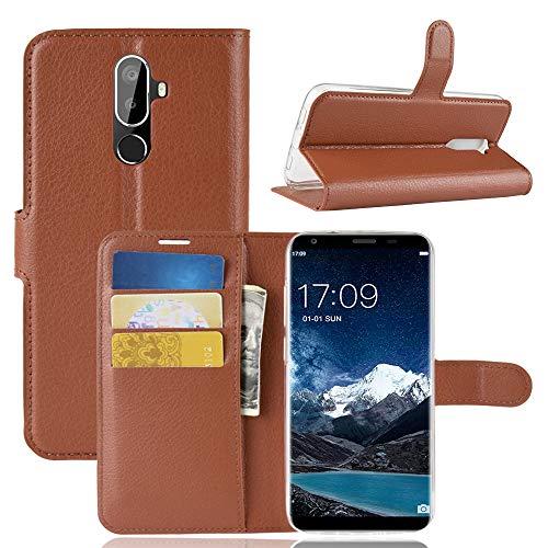 SHIEID Oukitel K5 Hülle Brieftasche Hülle Kunstleder Handyfall Handyfall Für Oukitel K5(Braun)