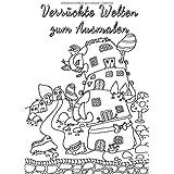 Verrückte Welten zum Ausmalen: Ausmalbuch für Erwachsene auf 120g-Papier