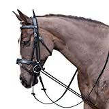 ZANGAO 3m Cavallo Redini Elastico Nero Collo barella Equitazione Completa Briglia Strape Corda Resistente all'Usura Materiali Equestri (Color : Black)
