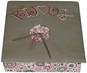 La Boîte à Broder BIJ004 Kit de Cartonnage Boîte à Bijoux 16 x 16 x 5 cm