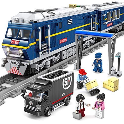 Aiya 1002 Stück Technic Series Emerald Night Train Modellbau-Kits Block Bricks Spielzeug für Kinder Geschenk kompatibel mit Lego