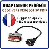 MISTER DIAGNOSTIC Adaptador Diagnóstico Compatible con vehículos Peugeot ...