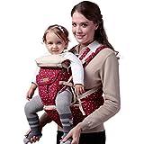 Chilsuessy 3 in 1 Babytrage Baby Tragetasche R¨¹ckentrage Bauchtrage Baby Carrier babycarrier unisex Jungen M?dchen, Rot