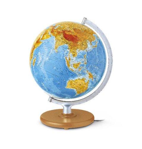 DFNGI 3020 Globus handkaschiert, GIS-Kartogr.,  Glaskugel, integr. Kabel