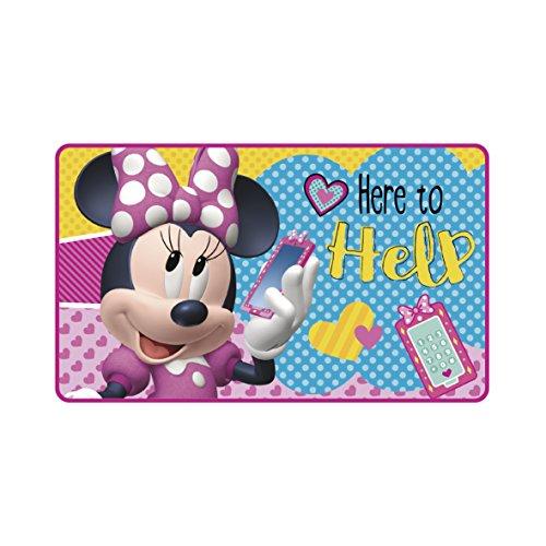 Minnie Mouse - Alfombra Disney 45x75cm suave rosa