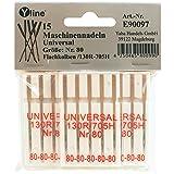 15 Nähmaschinennadeln Universal Nr. 80 Flachkolben 130/705H für Nähmaschine, Maschinen Nadeln, E90097