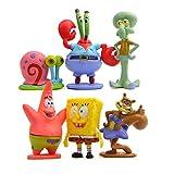 Colección de 6 personajes Bob Esponja Calamardo Patricio Señor Cangrejo Arenita y Gari Spongebob 6 figuras BobEsponja 4675_bis_6