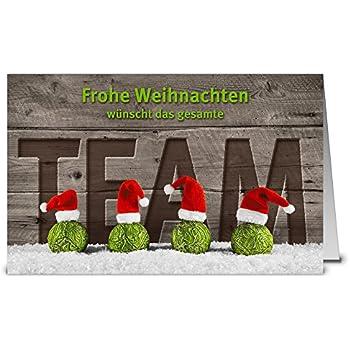 weihnachtskarten team wk17216 50 klappkarten im set mit. Black Bedroom Furniture Sets. Home Design Ideas