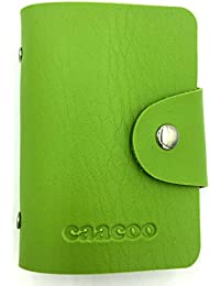 Credit Card Holder Wallet For Women Men - 24 Card Slots (Green) By Caacoo