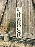 Enid18Bru Farmhouse Wood Sign Vertical Décoration Murale Ferme Home Decor Bois Vieilli Panneau Style Ferme Farmhouse Sign Ferme Décoration Murale
