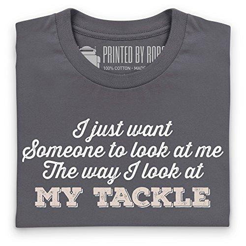 Fishing Tackle Desire T-Shirt, Herren Anthrazit