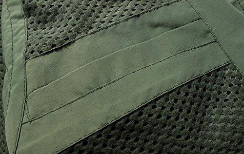 Casuale Della Maglia Ad Asciugatura Rapida Gilet Tattico Multitasche Maglia Di Pesca Fotografia Uomo Brown