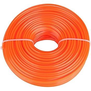 100 m Ledoo Rocchetto di Filo di Nylon da 2 mm Filo di Nylon per Tagliare Il Bordo del decespugliatore Tagliaerba a Filo Tagliaerba a Filo Tagliafilo Tagliafilo in Nylon Tondo, Bianco
