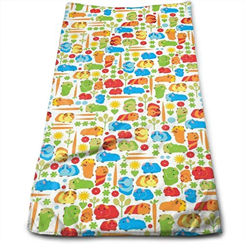 Guinea Pig Vegetable Kitchen Dish Towels with