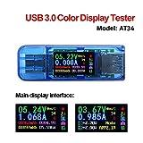 Onepeak AT34 USB 3.0 Farbe LCD Voltmeter Amperemeter Spannung Stromzähler Multimeter Akku Ladung Bank USB Teste