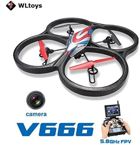 WLtoys WLtoys WLtoys V666 5.8G FPV 6 Axis RC Quadcopter With HD Camera Monitor RTF by CTU BroHall d156cf