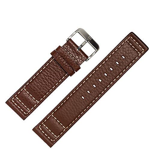 TOMMY HILFIGER Uhrenarmband 22mm Leder Braun - Gehäusenummer TH.102.1.14.0878 - Ersatzarmband Passen