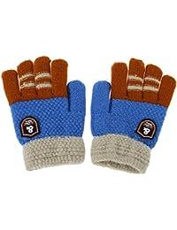 Domybest Gants d hiver Chauds Elastiques pour Bébés Garçons Gants Enfant  Hiver Moufles Tricotes pour 8ba07e93478