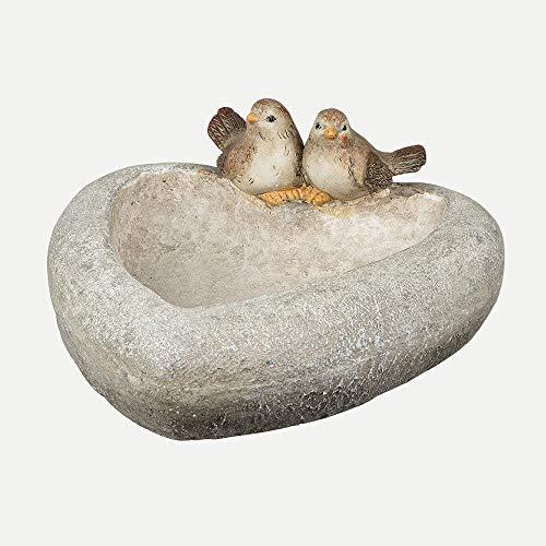 Formano Vogeltränke aus Magnesia, Breite: 35 cm, im Landhausstil, Natur-Braun, 1 Stück