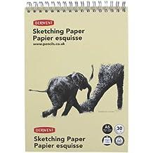 Derwent - Cuaderno de bocetos, tamaño A5 vertical, 165 gr, con espirales, 30 páginas