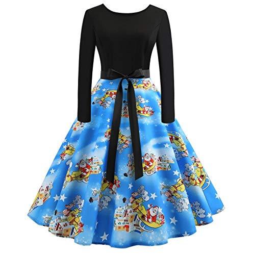 Averyshowya Kostüm für Erwachsene Frauen Plus Größen-Weinlese-Halloween-Kleid Sleeveless V-Ansatz dünne Taillen-Elegantes Aufflackern-Kleid-Kleid für Halloween-Party @ Black_L (Für Erwachsenen Plus Kostüm)