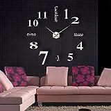 Anself DIY-Wanduhr mit tollem Spiegeleffekt, Acrylklebstoff, Dekorations-Set für das Wohnzimmer im Mobilheim, Uhr