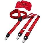 DonDon Tirantes para hombres ancho 2,5 cm en forma de Y, elásticos y ajustables en paquete de 2 con...