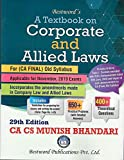 A textbook on Corporate and Allied Laws - CA Final - Old Syllabus