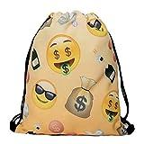 Richhapi Emoji Geld Multifunktionale String bag Jutebeutel Turnbeutel Sporttasche Umhängetasche
