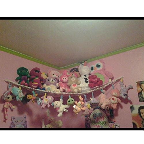 Huijukon Jumbo Toy Hammock Storage Net Organizer and Toy Chain for Soft Stuffed Animals, Nursery Play, Teddies(84 x 59 x 59 inches)  Huijukon