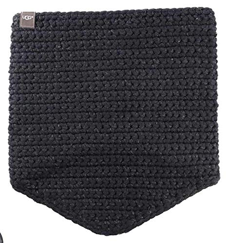 UGG Women's Crochet Snood with Lurex & Sequins Black Multi Scarf One Size