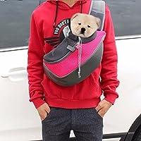 Transportin bandolera mochila para perros raza pequeña gatos mascotas color rosa de OPEN BUY