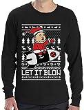 Nordkoreanische Weihnachten Männer - Let It Blow Langarm T-Shirt Large Schwarz