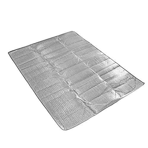 Humefor pieghevole impermeabile a prova di sabbia da campeggio spiaggia coperta da picnic Mat argento per uso indoor e outdoor - Got Erba