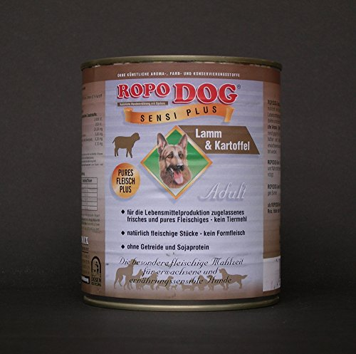RopoDog 30lattine da 800gr Adult sensi + Plus di agnello di patate