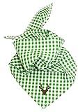 BONDI Baby-Tuch karo grün/weiß