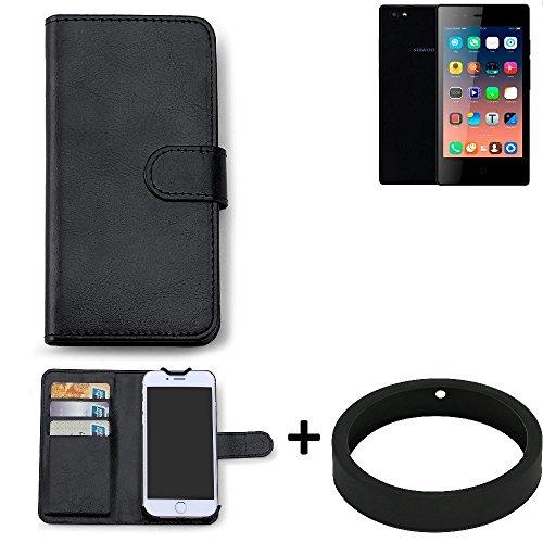 K-S-Trade Case für Siswoo A5 Schutz Tasche Hülle Walletcase schwarz Handytasche Handy Case Schutzhülle inkl. Bumper