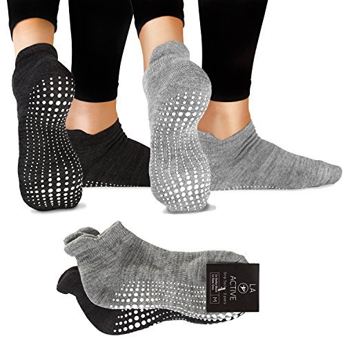 LA Active Grip Socks - Yoga Pilates Barre Ballet...