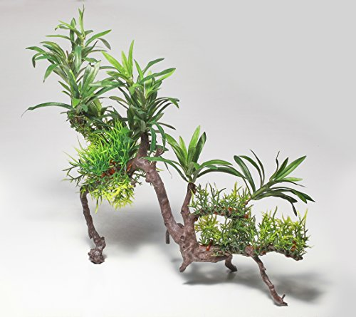 Pistachio Pet Schöne Realistische Aquarium Pflanze auf Wurzel 30,5cm/31cm hoch - Realistische Pflanzen Aquarium