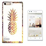 002832 - Tropical Aztec Pineapple Gold Effect Outline
