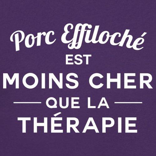 Porc effiloché est moins cher que la thérapie - Femme T-Shirt - 14 couleur Violet